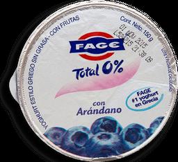 Yoghurt Fage Total 0% Estilo Griego con Arándano sin Grasa 150 g