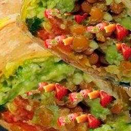 Mega Burrito de Guacamole con Lentejas