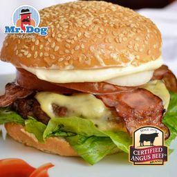 Hamburguesa Mr Burger Del Caribe + Papas & Bebida