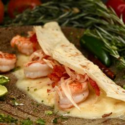 Dobladita de camarón a la mexicana