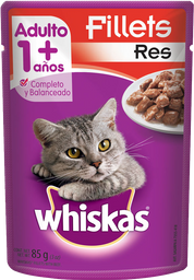 Alimento Para Gato Whiskas Filetes de Res 85 g