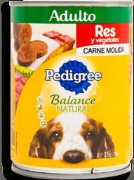 Alimento Para Perro Pedigree Adulto Res Y Vegetales Lata 375 g