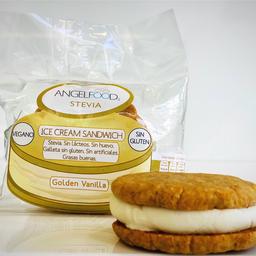 Golden Vanilla Ice Cream Sándwich