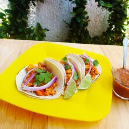 Tacos de Huevo con Chorizo X 3