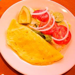 Omelette con Queso y Champiñones