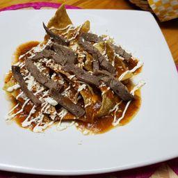 Chilaquiles Mixtos con Bistec