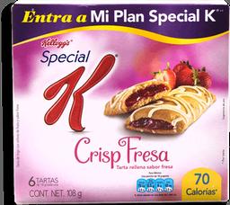 Barra de Cereal Special K Crisp Sabor Fresa 108 g