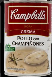 Crema Campbell's de Pollo con Champiñones 420 g