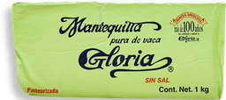 Mantequilla Gloria Sin Sal 1 Kg
