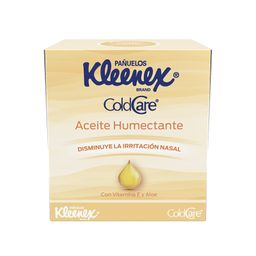 Pañuelos Kleenex ColdCare Aceite Humectante 66's