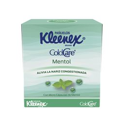 Pañuelos Kleenex ColdCare Mentol 60´s