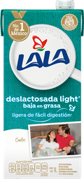Leche Lala Deslactosada Baja en Grasa 1 L x 12