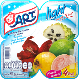 Gelatina Art Multisabor Light 125 g x 4