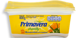 Margarina Primavera Chantilly Sin Sal Untable 400 g