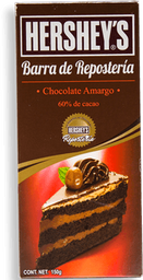 Chocolate Amargo Hershey's Para Repostería Barra 150 g