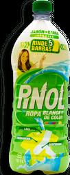 Detergente Líquido Pinol Ropa Blanca y de Color 1 L