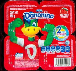 Yoghurt Danonino Sabor Fresa 42 g x 4