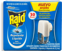 Raid Repelente  Líquido Anti Mosquitos Con Repuesto
