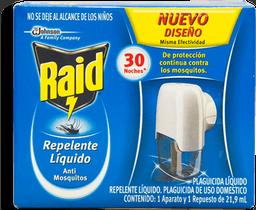 Repelente Raid Líquido Anti Mosquitos Con Repuesto 1 U