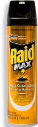 Insecticida Raid Max Mata Cucharachas e Insectos 400 mL