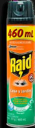 Insecticida Raid Casa Y Jardin Eucalip 400 Ml. Spray