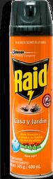 Insecticida Raid Casa y Jardín Aerosol 400 mL