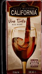 Vino Tinto Valle Redondo California Tetrapack 1 L
