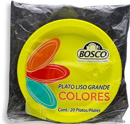 Platos Bosco Colores Grande Bolsa 20 U