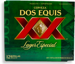 Cerveza Dos Equis Lager Botella 355 mL x 12