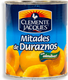 Duraznos Clemente Jaques Mitades en Almibar 820 g