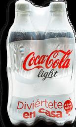 Refresco Coca Cola Light 600 mL x 4