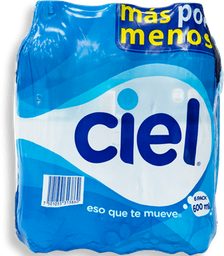 Agua Ciel Natural Botella 600 mL x 6