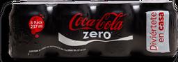 Refresco Coca-Cola Zero Lata 237 mL x 8