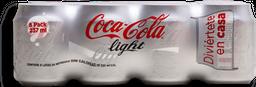 Refresco Coca Cola Light Lata 237 mL x 8
