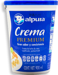Crema Alpura Premium Entera 900 mL