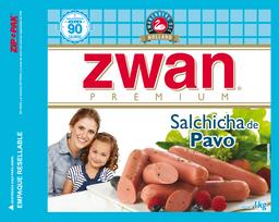 Salchicha Zwan Pavo 1 Kg