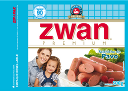 Salchicha de Pavo Zwan Premium 500 g