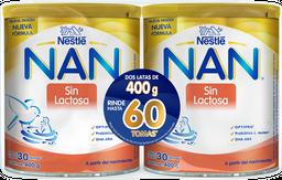 Fórmula Para Lactantes Nan Sin Lactosa 400 g X 2