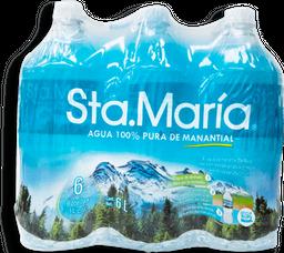 Agua Sta. María Natural 1 L x 6