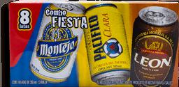 Cerveza Modelo Combo Fiesta Lata 355 mL x 8