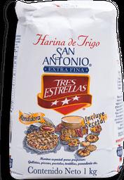 Harina de Trigo Tres Estrellas San Antonio Extra Fina 1 kg