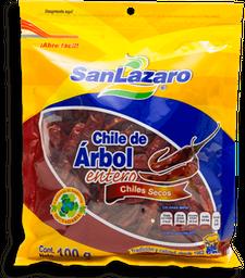 Chile de Árbol San Lazaro Enteros Secos 100 g