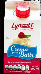 Crema para Batir Lyncott 500 mL