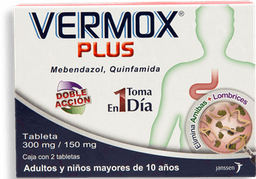 Vermox Plus 2 Tabletas (300 mg/150 mg)