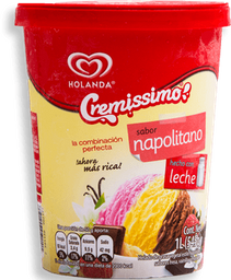 Helado Cremissimo Napolitano 1 L
