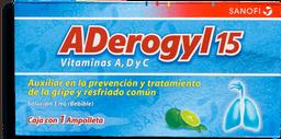3x2 Aderogyl 15 + Vit C 3mL Sol Ing C/1 Amp