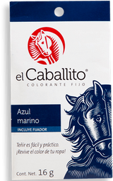 Colorante El Caballito Az Marino No.26 16 g. Sobres
