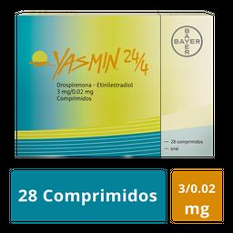 Yasmin Bayer 24 DãAs Y 4 Sem 28 Comprimidos Caja