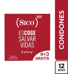2x1 Preservativos Sico Red Con 9 + 3 Gratis 12 U