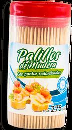 Palillos De Madera Great Value Con Puntas Redondeadas Bote 275 U